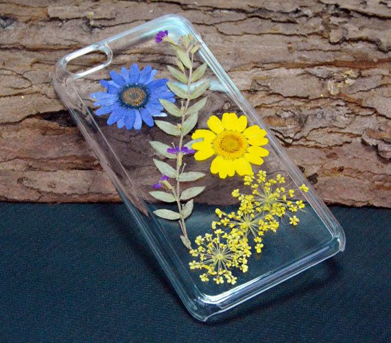 Pressed flower iPhone CasePersonalized floral by UUniquecase