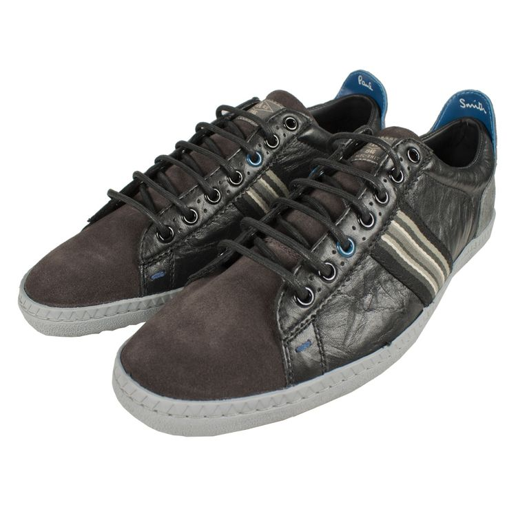 Paul Smith Shoes Osmo Suede Mix Trainers Black