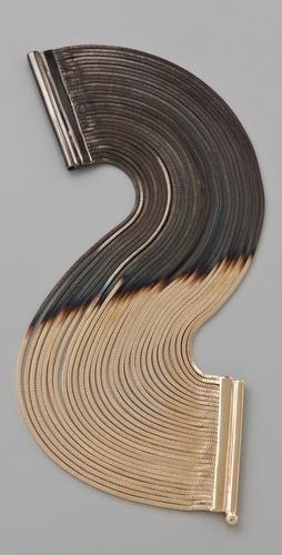 Iosselliani Shaded Fringe Cuff - I love multistrand bracelets