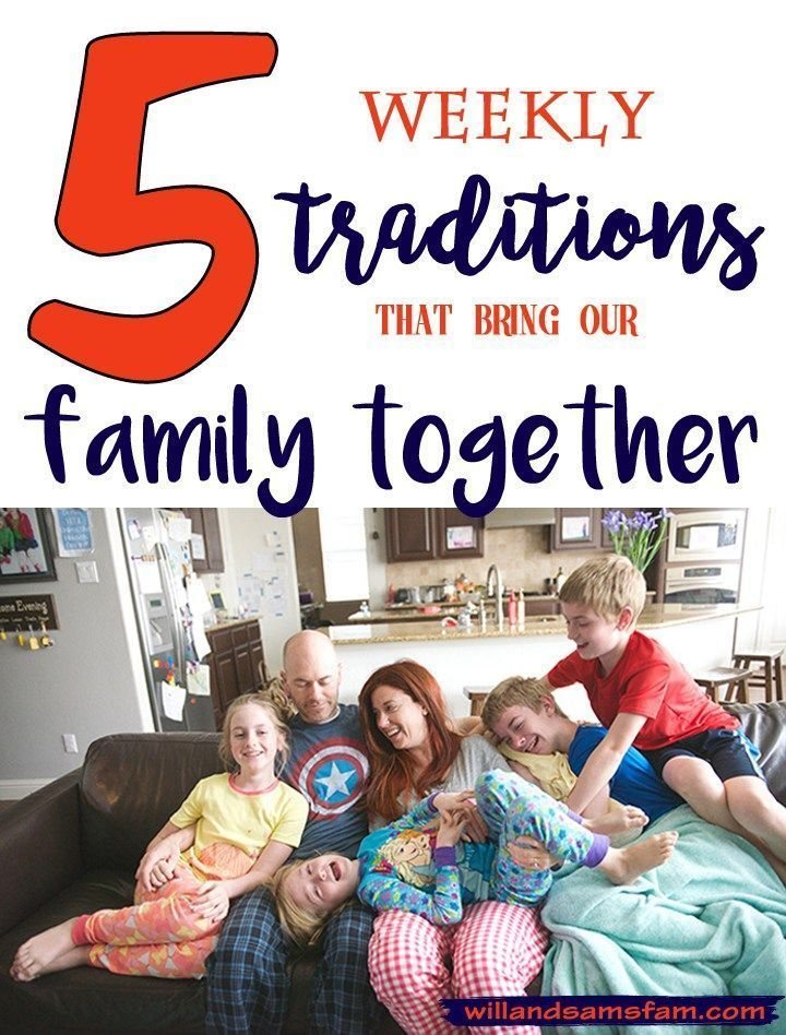 Our family has a lot of fun little traditions that help us grow closer together. In this post we're going to share five of those with you. Tradition 1: Happy and Sad Parts Every night at dinner our family shares with each other the things we did that day