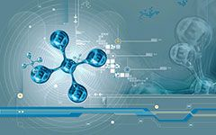 free molecules 3d abstract wallpaper desktop background image