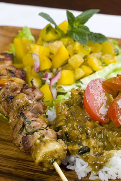 #chicken #marinades #sauces As you can see from the picture, this is a tasty-looking and very colorful kabob recipe. There are different marinade recipes you could choo...