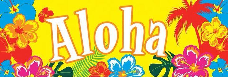 banner festa aloha scrapier pinterest banners. Black Bedroom Furniture Sets. Home Design Ideas