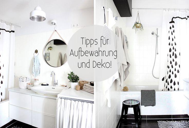 Badezimmer: Tipps für Aufbewahrung und Deko
