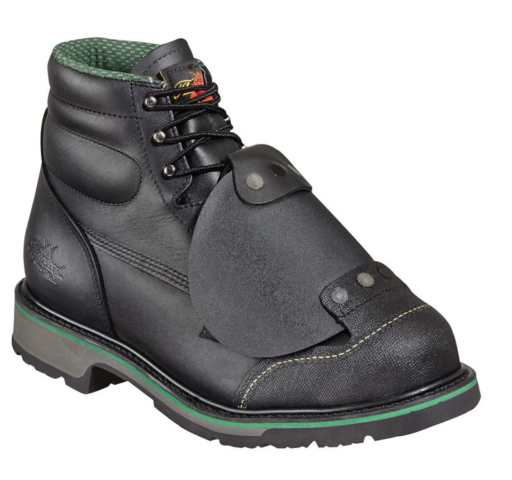 Thorogood Mens Black Leather Work Boots Steel Toe External MetGuard