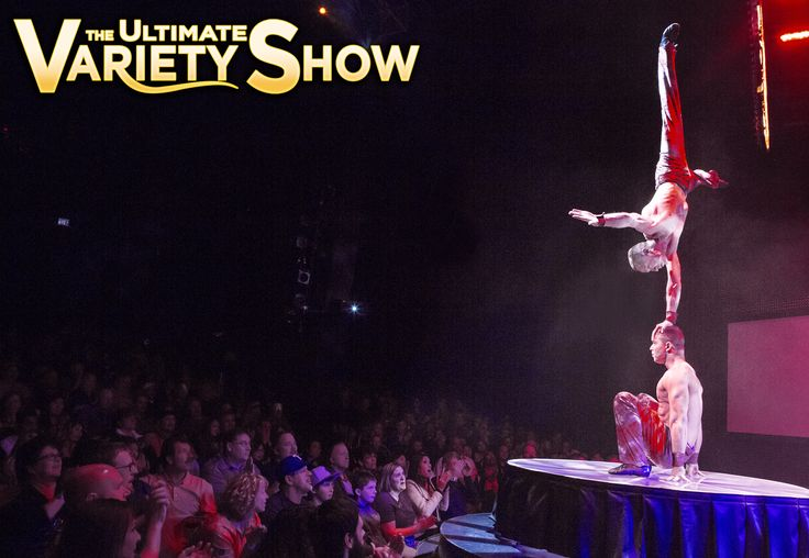 It's nonstop jaw-dropping #entertainment with each and every act! See the balancing artists, Iouri & Gabor nightly in #VtheShow  #Vegas #Shows #PlanetHollywood #FamilyActivities #ThingsToDoInVegas #LasVegasStrip #Tourists #BestShows