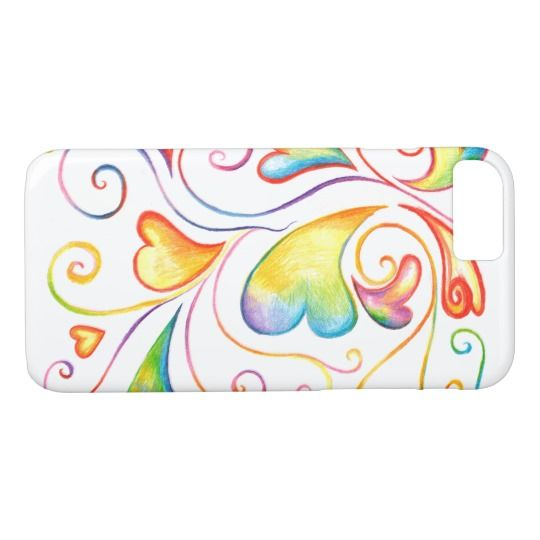 Colorful Valentine Spirals Mobile Case
