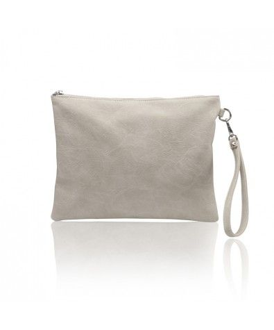 The Maia Light Taupe is Nella Bella's carry-all pouch that is perfect for less-is-more wardrobes and events. Large zippered top, lined interior with zippered inside pocket, this little pouch also comes with a removable wristlet.