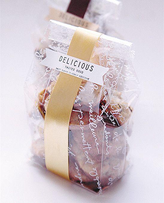 ( 30 unids/lote ) de plástico transparente galletas bolsas con el oro tablero de papel, bolsa celofán para regalo panadería Macaron Cake embalaje BS79 en Bolsas para Embalar de Industria y Negocio en AliExpress.com | Alibaba Group