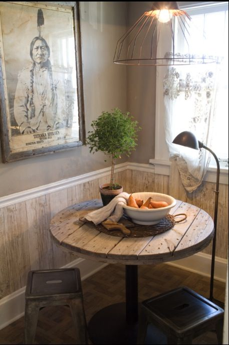 77 best recycled wooden cable reels images on pinterest for Recycled living room ideas
