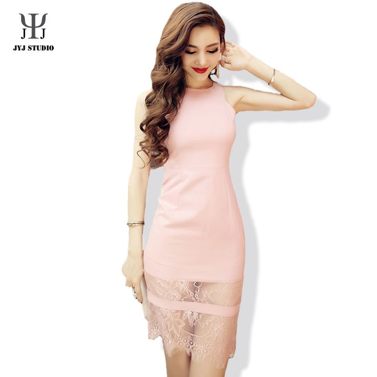 Aliexpress.com : Buy Pink Sexy Lace Dress Luxury Brand Women Dress Sleeveless Bodycon Ladies Office Dresses from Reliable dress up time prom dresses suppliers on JYJ STUDIO