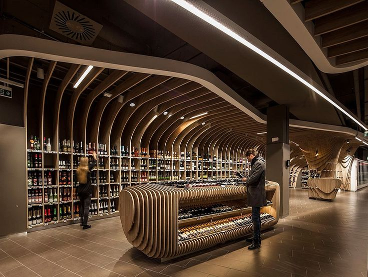 7 Breathtaking Retail Spaces | Projects | Interior DesignDesigner: LAB5 Architects. Project: Spar supermarket. Location: Budapest, Hungary. Photography by Zsolt Batár.