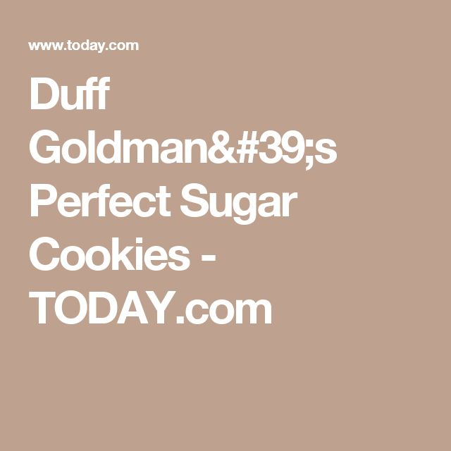Duff Goldman's Perfect Sugar Cookies - TODAY.com