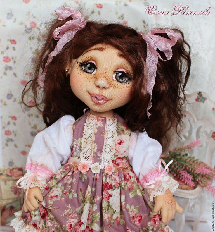 Купить Кукла Глашенька текстильная интерьерная с объемным личиком - подарок девушке, подарок коллеге, розовый