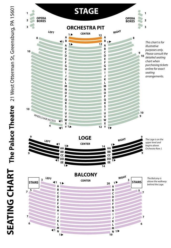 Incredible Civic Theater Seating Chart Di 2020