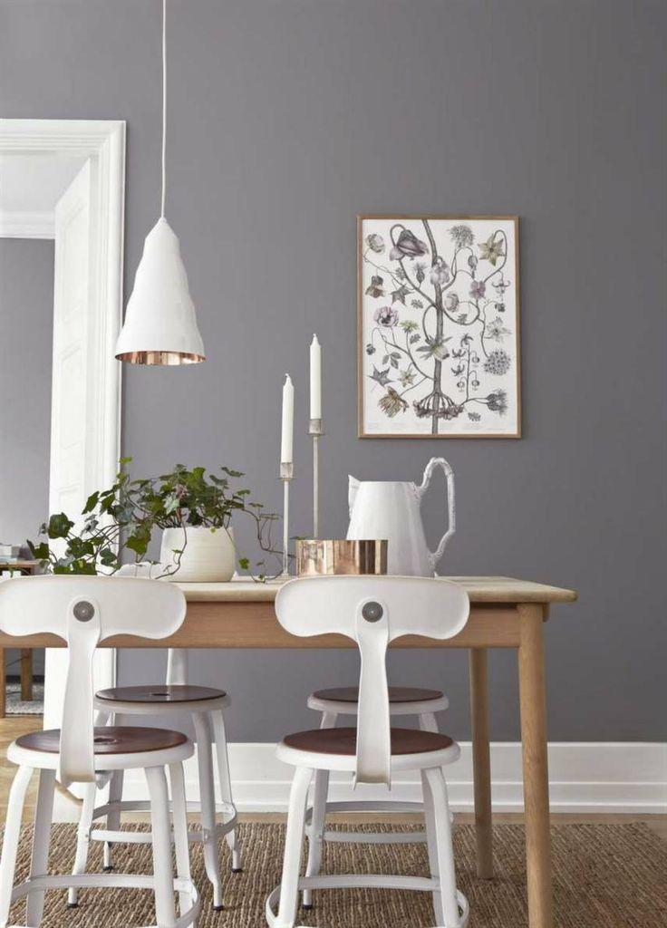Grå nyans som påminner om en målad vägg - tapet från Borås