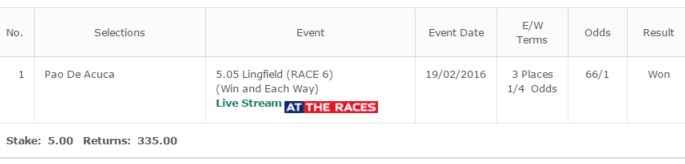 66/1 Winning Tip For Members  Our Tips = Our Own Bets  Join For Free >> http://www.bookiebashers.net/ 1: Best Free Cheltenham Festival Bets 2:Ladbrokes world hurdle free tips 2: QUEEN MOTHER CAHSE FREE TIPS 3: Supreme Novices Hurdle Cheltenham Tips 4: Ryanair Chase Betting Tips 5: Cheltenham Festival Guide & Tips 6: Best Free Cheltenham Festival Bets 7: Gold Cup Free Betting Tips 8…