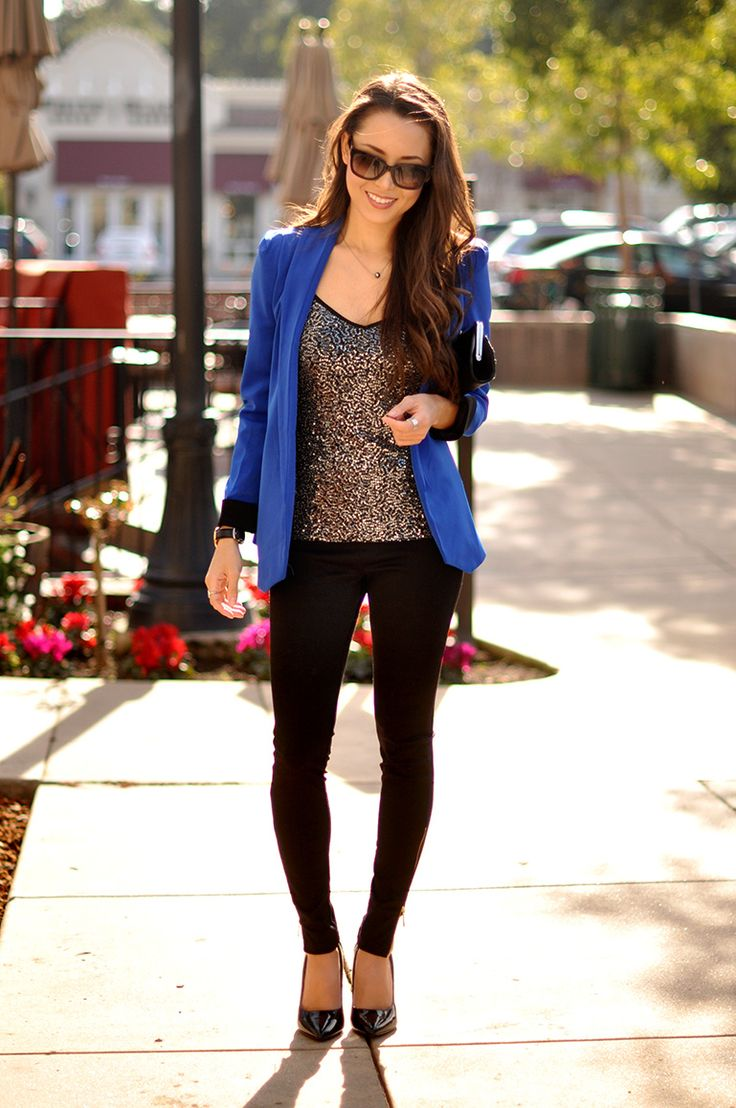 17 Best Ideas About Cobalt Blazer On Pinterest Business Fashion Professional Business Outfits