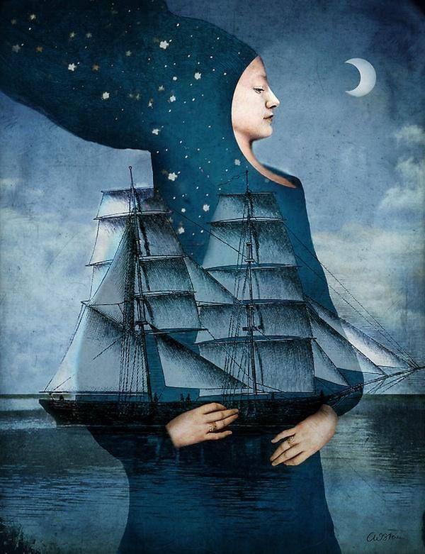 德國插畫師Catrin Welz-Stein童話書拼貼繪畫