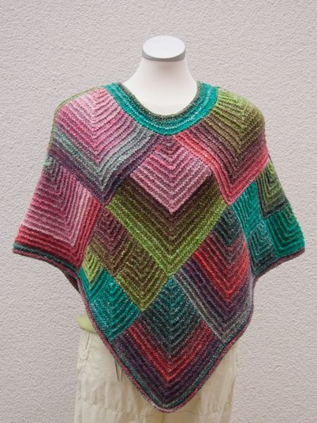 Love this knitted poncho in Noro.... Jan Eaton has a very similar crocheted square...... Hmmmmm.... Ideas!!!