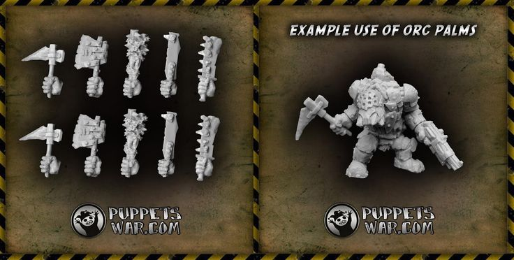 Our newest release: Orc Right Hand Weapons https://puppetswar.eu/product.php?id_product=680 This is the last chance to get this set - and other orc stuff - with 10% discount. https://puppetswar.eu/category.php?id_category=154