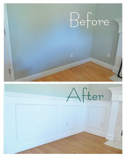 DIY Wainscoting  http://www.centsationalgirl.com/2010/05/adventures-in-wainscoting/