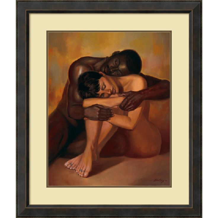 Framed Art Print 'Tenderness' by Sterling Brown 36 x 42-inch
