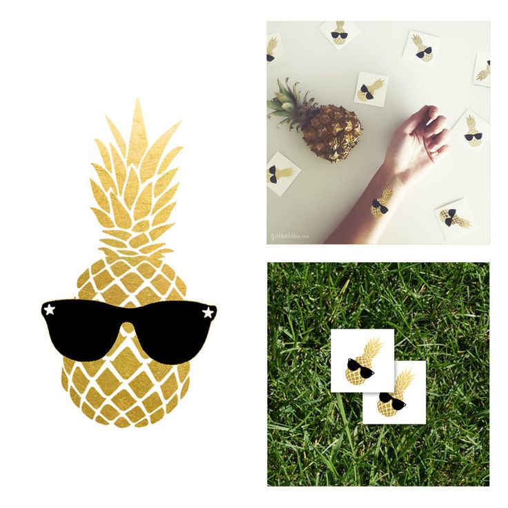Gold Pineapple Glasses Case Black Metallics Sunglasses Tropical Fruit Hard Case fY2YpiyA