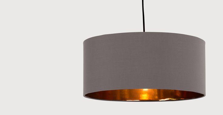 Hue Pendant Shade, Grey & Copper | made.com - also in navy