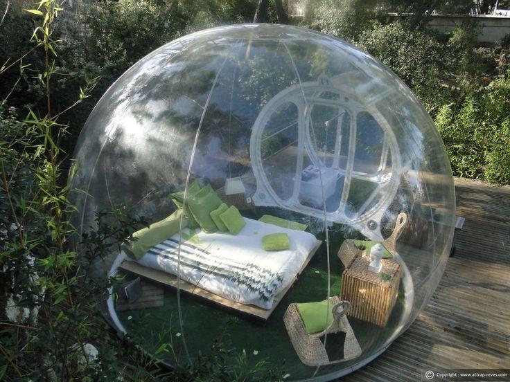 Dormir dans bulle Zen Attrap Rêves pour une nuit insolite