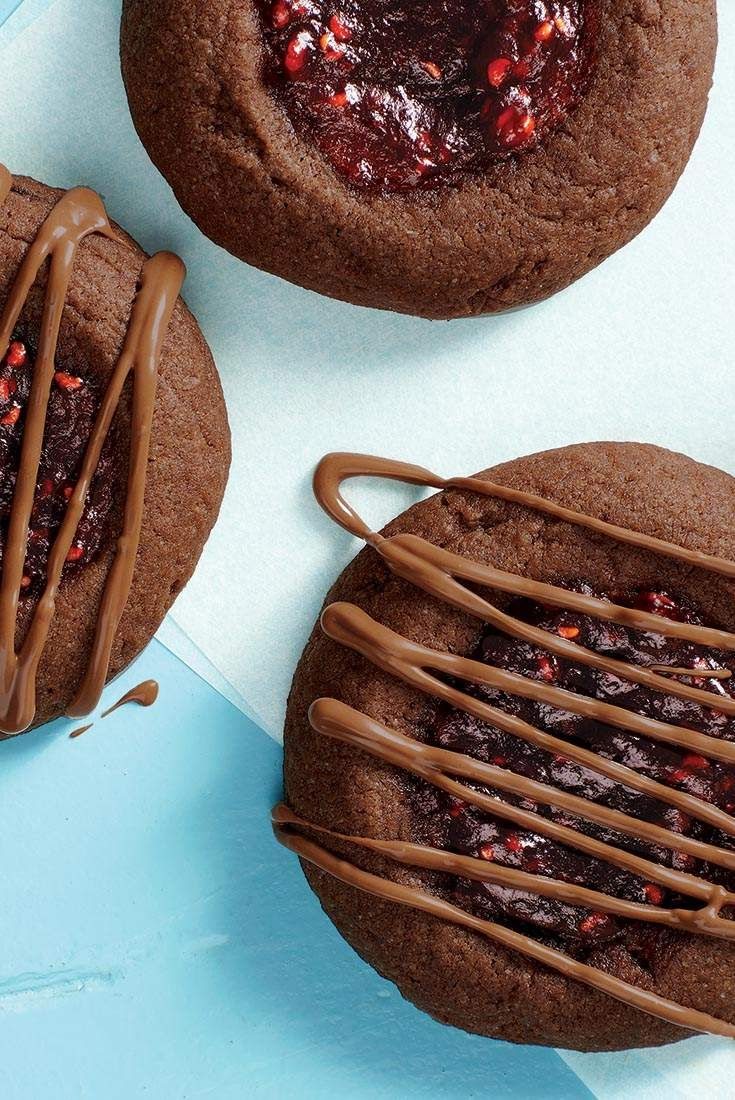 Chocolate-Raspberry Thumbprints Recipe