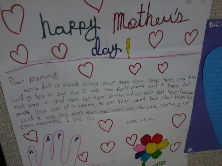 21 of the most amusing, terrible, or completely insane Mother's Day cards ever made by kids. | Mother's Day | Someecards