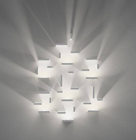 Infinitely modular and endlessly configurable, Set by J Ll Xuclà for Vibia cleverly uses light and shadow to produce unique illumination effects that create volume out of the insubstantial