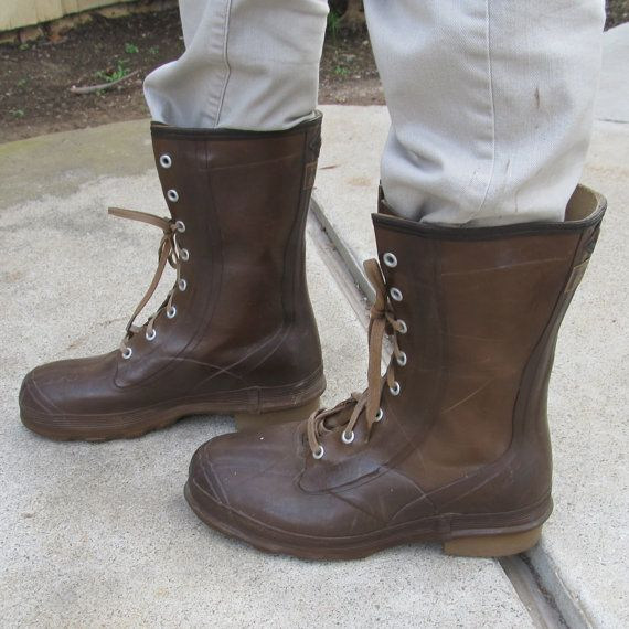 1940s Vintage Men's Rubber Work Boots  Steampunk by JennyandPearl, $75.00