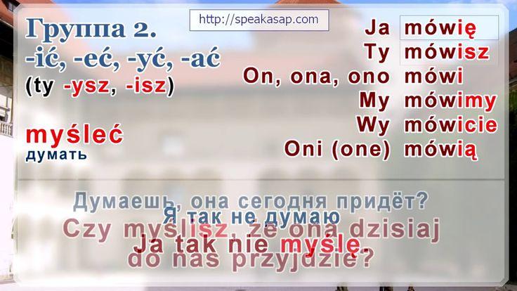 Глаголы в польском языке. Урок 3/7. Польский язык для начинающих. Елена ...