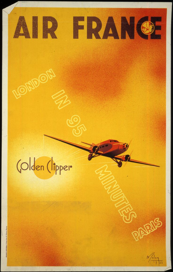 Air France - Golden Clipper - London in 95 minutes Paris - [by Albert] Solon 1933