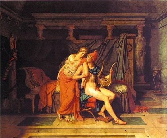 다비드의 '파리스와 헬레네'     이 두 사람의 사랑때문에 '트로이 전쟁'이라는 역사적인 사건이 일어난다.