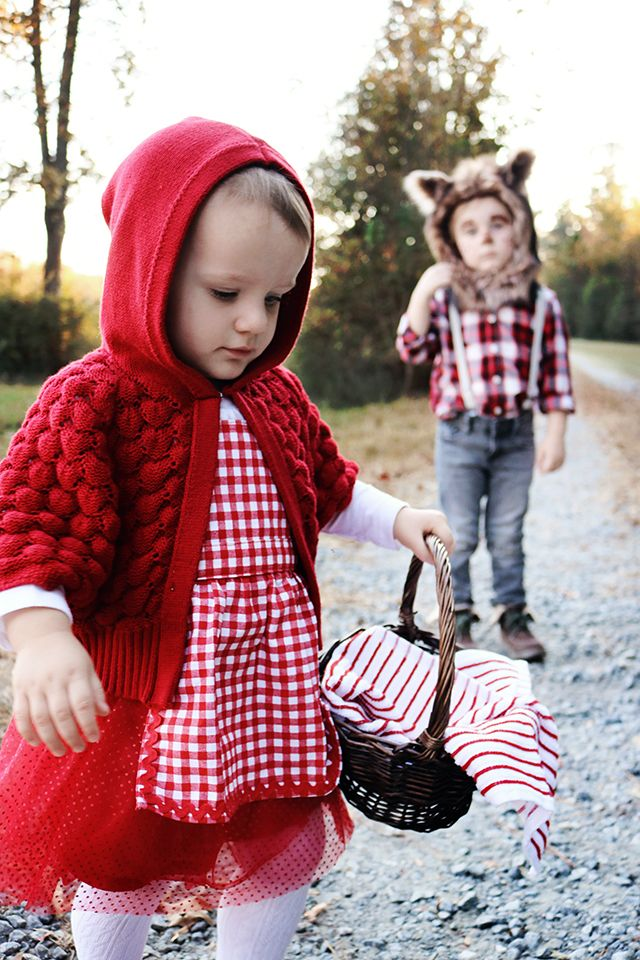 toddler halloween costumes, halloween, little red riding hood costume, big bad wolf costume