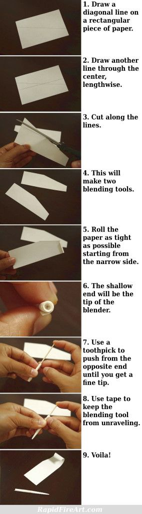 how to make a blending stump tortillion