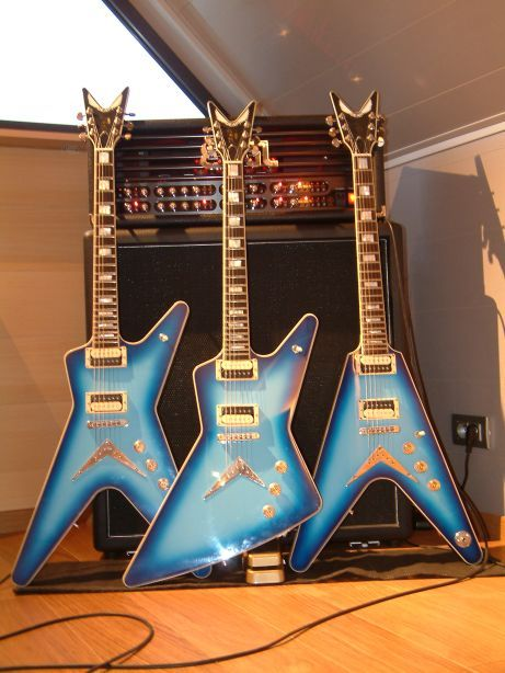 DEAN blueburst electric guitars