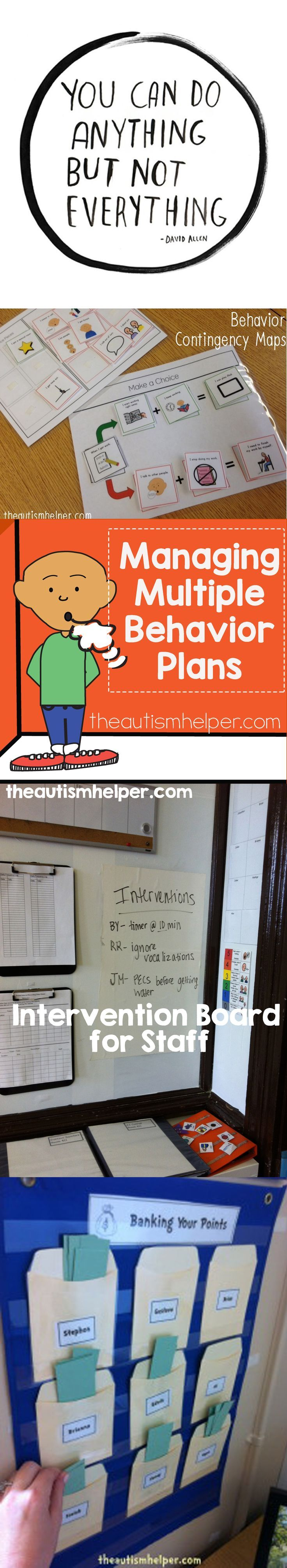 Stay on track with our tips for managing multiple behavior plans at once! From theautismhelper.com #theautismhelper