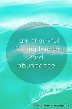 Manifest & Prosper: Health, Abundance Affirmation