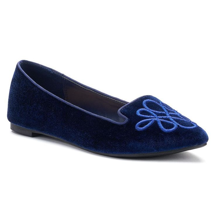 LC Lauren Conrad Calla Women's Pointed Loafers, Blue