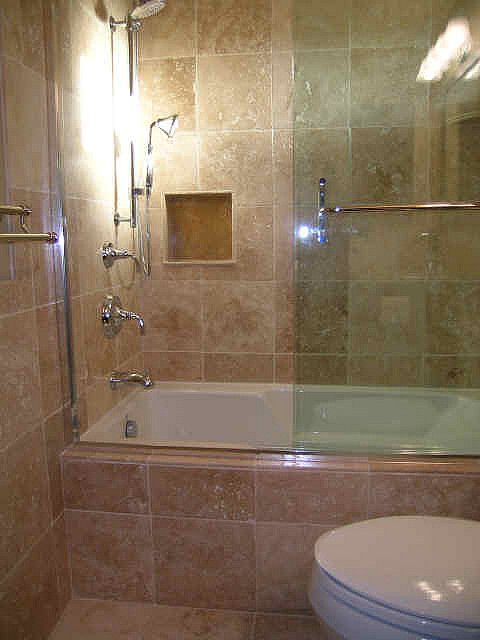1000 images about small bathtub shower combos on - Bathtub shower combo for small bathroom ...