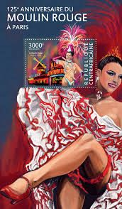 Moulin rouge in Paris - stamp