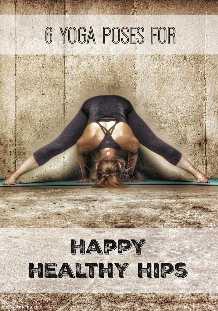 6 yoga poses for runners to keep your hips happy and healthy.  happyfitmama.com