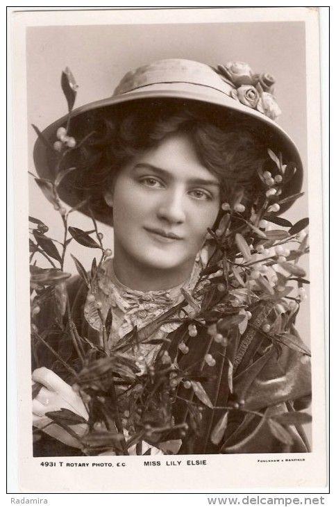 Photo Post Card Actress MISS LILY ELSIE «Актриса Мисс Лили Элси» Англия Начало ХХ века.