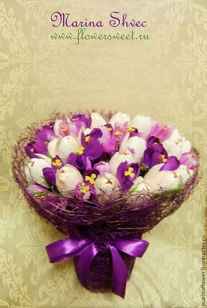 Букет из конфет тюльпаны - букет из конфет,Букеты из конфет,букет в подарок