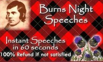 Burns' Night Reply to Toast to the Lassies