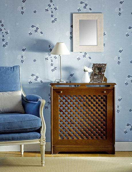 Room Heaters in Modern Interior Design, Wooden Covers for Old Wall Heaters